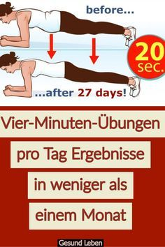 Four-minute exercises per day results in less than a month - Anette Dippel Vier-Minuten-Übungen pro Tag Ergebnisse in weniger als einem Monat With a simple exercise you can transform your body into the ideal body shape you have always wanted. Fitness Workouts, Fitness Motivation, Sport Fitness, Easy Workouts, Yoga Fitness, Health Diet, Health And Wellness, Health Fitness, Health Yoga