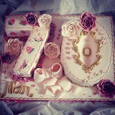 Ladies 70th birthday cake