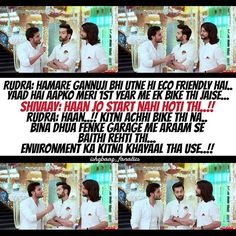 What can be more eco friendly than a bike which doesn't start... 😂😂😂😂 #Rudra #Omkara #Shivaay #OBros #OberoiBrothers #IshqbaazBrothers #Brothers4Life #GaneshChaturthi #Ishqbaaaz #21Sept2016 @nakuulmehta @kunaljaisingh @leenesh_mattoo