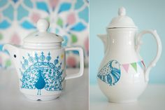 Peacock Jug & Bird Teapot... I absolutely love these!