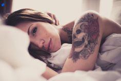 Skull Shoulder Tattoo Designs For Women