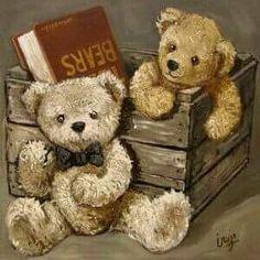 Tableau ourson vintage Plus ilustration Vintage Teddy Bears, Cute Teddy Bears, Tatty Teddy, Photo Ours, Art D'ours, Tedy Bear, Teddy Bear Party, Bear Paintings, Teddy Bear Pictures