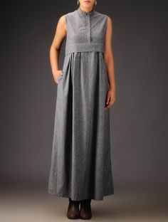 The simplest grey dress from jaypore.com