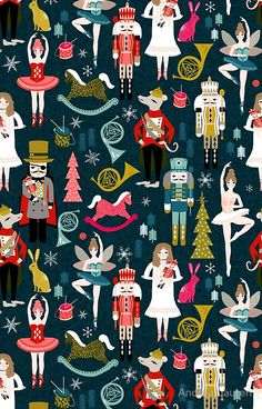 Available as a phone case: http://www.redbubble.com/people/papersparrow/works/13431687-nutcracker-ballet-by-andrea-lauren?grid_pos=117&p=iphone-case