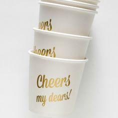 Metallic Cups for your New Year's Eve Party!