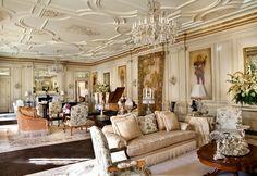 Tobin Clark estate - fifty-foot grand salon