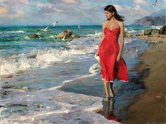 michael inessa garmash paintings | Michael and Inessa Garmash original painting Windy morning