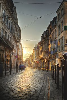 Lille, France, at Sunset by Nathan Hill- Going to be home for the next three months!