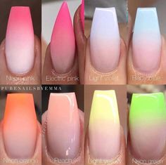 The advantage of the gel is that it allows you to enjoy your French manicure for a long time. There are four different ways to make a French manicure on gel nails. Faded Nails, Pink Nails, My Nails, Neon Nails, Neutral Nails, Glam Nails, Yellow Nails, Cute Nails, Pretty Nails