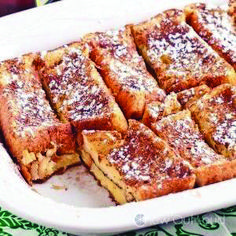 This French Toast Bake is made with thick Texas toast, which results in a scrumptious breakfast everyone will love! The Best French toast casserole yet. # texas toast french toast Texas French Toast Bake - Chew Out Loud French Bread French Toast, Best French Toast, Pumpkin French Toast, French Toast Bake, French Toast Bread Pudding, Crockpot French Toast, Baked French Toast Casserole, Baked French Toast Overnight, French Toast Cassarole