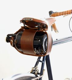 Bike Mounted Leather Growler Carrier by Pedal Happy on Scoutmob #fathers #day #gift #idea #father