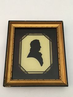 Early Reverse On Glass Silhouette Dr. Oliver Hubbard Silhouette Tallimit Art