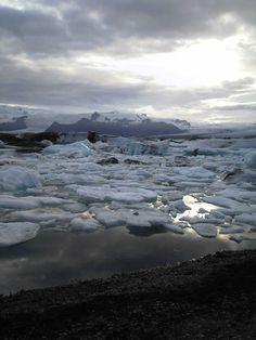 Zelfgenomen foto in IJsland van het ijsmeer