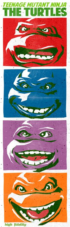 The Turtles - A Pop Art Day's Night by Butcher Billy, via Behance