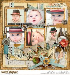 Digital scrapbook page by SeattleSheri using Reminisce by Studio Basic and River Rose