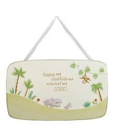 Take a look at this 'Giggles & Cuddles' Plaque by Grasslands Road on #zulily today!
