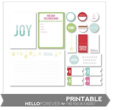 Hello Forever November Printables by Two Peas - Two Peas in a Bucket
