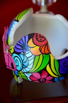 Colorful Mosaic Band detail DOC band/Cranial band https://www.facebook.com/Cranial-BandsMurals-by-Leigh-Gibson-153150921414230/timeline/