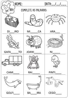 Criar Recriar Ensinar Rhyming Preschool, Preschool Assessment, Preschool Writing, Kindergarten Math Worksheets, Math Literacy, Kids Nursery Rhymes, Rhymes For Kids, Spanish Lessons For Kids, Learning Spanish
