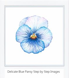 tutorial delicate blue pansy, Rebecca Rhodes
