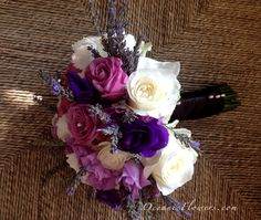 Purple, Lavender, and White Bridal Bouquet  http://www.instagram.com/oceanicflowers