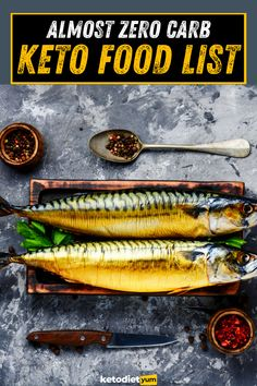 Almost Zero Carb Keto Food List - The ultimatme list of foods zero carb foods, broken up by category to lose weight on your ketogenic diet.