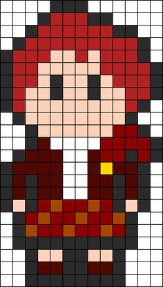 Outlander Jamie Fraser Perler Perler Bead Pattern / Bead Sprite