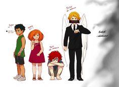 Erraday - original character Illich, pepper, Jett, Eidren as kids.