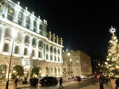 Lit up hotels in London - magical Christmas lights at the Sofitel St James hotel Magical Christmas, Christmas Holidays, London Christmas Lights, London Street, Holiday Festival, Hotel Reviews, Light Up, Hotels, Street View