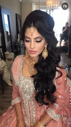 Check out the link for more information on classic wedding hairstyles Indian Wedding Makeup, Arab Wedding, Bridal Makeup Looks, Indian Bridal Makeup, Wedding Hair Down, Bride Makeup, Wedding Hair And Makeup, Hair Makeup, Wedding Updo