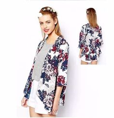 100% Brand New.  Material: Cotton, Polyester  Style: Blouse  Sleeve Style: Kimono Sleeve  Pattern: Floral  Color: as the picture show!  3 Sizes available:  Asian S (US S(2) ,UK 2, AU 4)  Asian M (US S(4) ,UK 6, AU 8)  Asian L (US M(8-10),UK 10,...