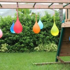 Water balloon pinatas, what a great idea for a kid water party Fun Activities For Toddlers, Water Activities, Water Games, Outdoor Activities, Summer Activities, Outdoor Games, Outdoor Fun, Games For Kids, Kids Fun