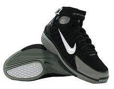 e2815b7137ed Kobe Bryant basketball shoes picture  Nike Air Zoom Huarache 2K4 black and  grey Kobe Bryant