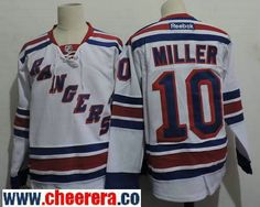 Men s New York Rangers  10 J. T. Miller White Home Stitched NHL Reebok  Hockey Jersey 09b5ff590