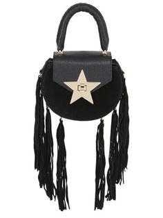 SALAR MIMI FRINGE LEATHER u0026 SUEDE BAG, BLACK. #salar #bags #shoulder