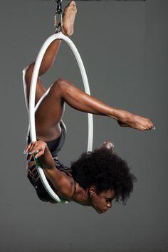 Aerial Hoop + Natural Hair