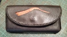 Cellphone belt pouch for Samsung S6.  2mm hand carved veg tan leather lined with kid skin. ZAR 500