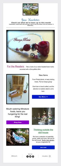 June  Newsletter  Check out what we've been up to this month  ~Remember, subscribers get savings~ Join in the fun today! visit our website to subscribe.