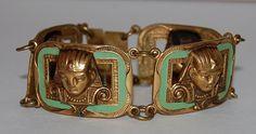 1920s Vintage Egyptian Revival Bracelet