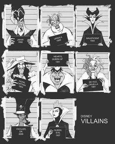 Disney Villain Mugshots
