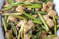 This is such a great chicken stir fry recipe that is very healthy, but still packed full of flavor. It has a wonderful combination of lemon, teriyaki, soy, and what's great is that the chicken and asparagus just soak that flavor right up!
