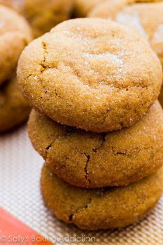 Soft Molasses Cookies - these are the softest molasses cookies! Puffy, chewy, and completely melt in your mouth.