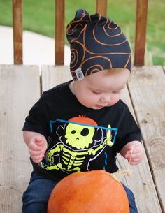 Beanie by Logan M Styles | lmstyles.bigcartel.com | shirt from Children's Place | Halloween Baby | Photography