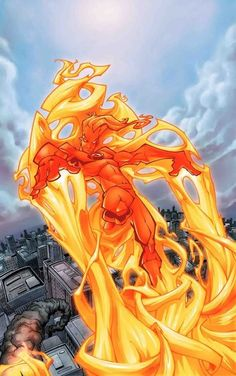 Human Torch by Skottie Young.