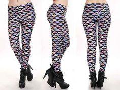 69c5c8dc86000c Mermaid Leggings lotusleggings Leggings Store, Printed Leggings, Fairy  Dress, Piece Of Clothing,