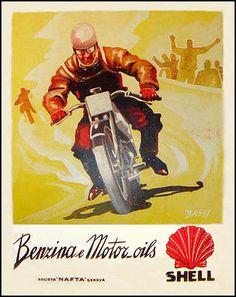 1931 Shell Oil Moto Italia