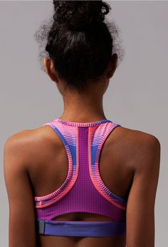 back mesh panels keep you cool. | Breathe In Strength Sports Bra