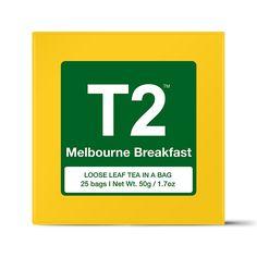 Melbourne Breakfast Teabag Gift Cube. Vanilla flavoured black tea. Yummy!