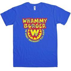 Inspired By Falling Down - Whammy Burger T Shirt - Royal Blue / 2XL