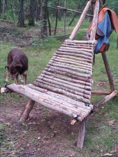 My finished campsite chair.